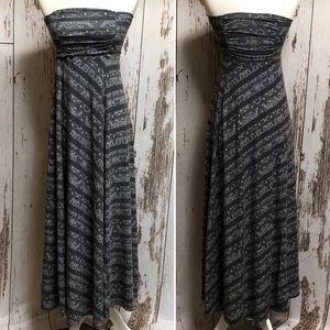 Athleta KALI Print Strapless Maxi Skirt Dress